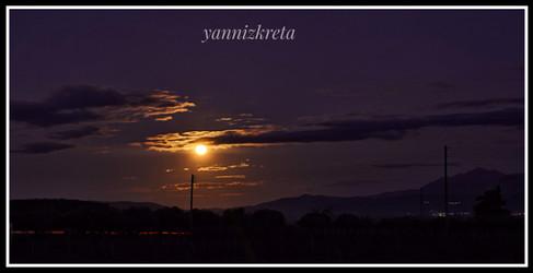 Evening views of Crete, Greece