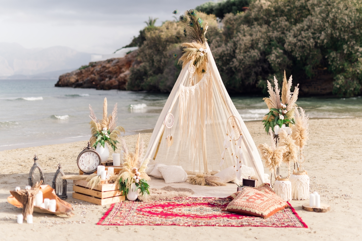 Creating a perfect setting for your wedding in Crete, Greece.
