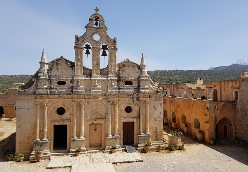25kms southeast of Rethymno the Monastery of Arkadi is steeped in Cretan legend and is a stunning example of a historic religious fortified settlement.