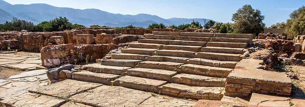 The Palace of Malia is one of three major Minoan settlements on the island of Crete, Greece.