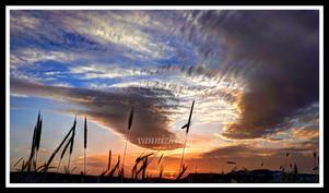 The sky in Crete, Greece