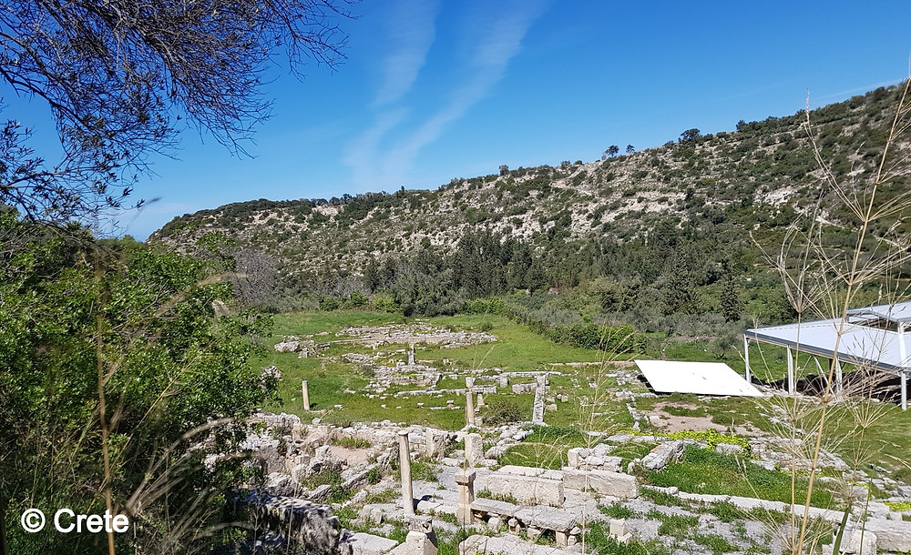The ancient former city state of Eleutherna is around 20kms south of Rethymno, Crete, Greece. The ancient settlement grows in importance as artefacts and understanding of the region increase. Eleutherna now has it's own museum and is shedding light on the Greek dark ages.
