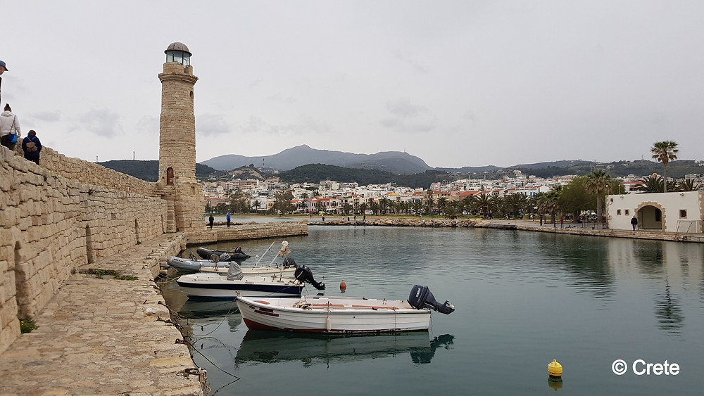The Venetian Harbour of Rethymno is a wonderful and atmospheric old port to take a stroll along the wall and gaze upon the lighthouse and the view of Rethymno Town.