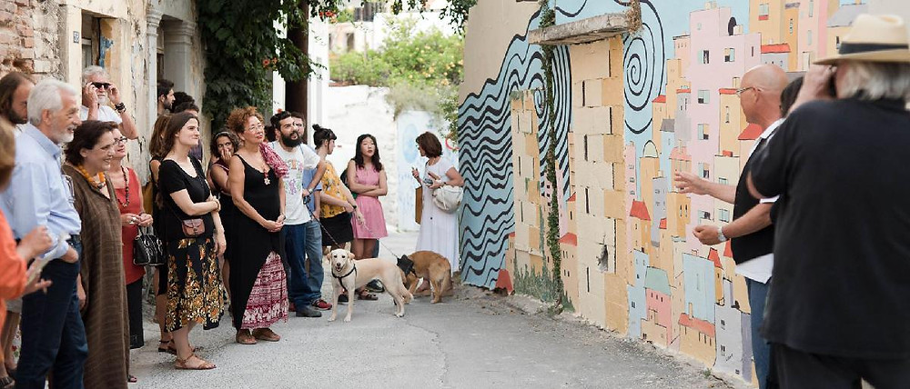 Lakkos art projects are injecting colour and style into the district of Heraklion, Crete, Greece.