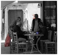 Kafeneio life, Crete, Greece