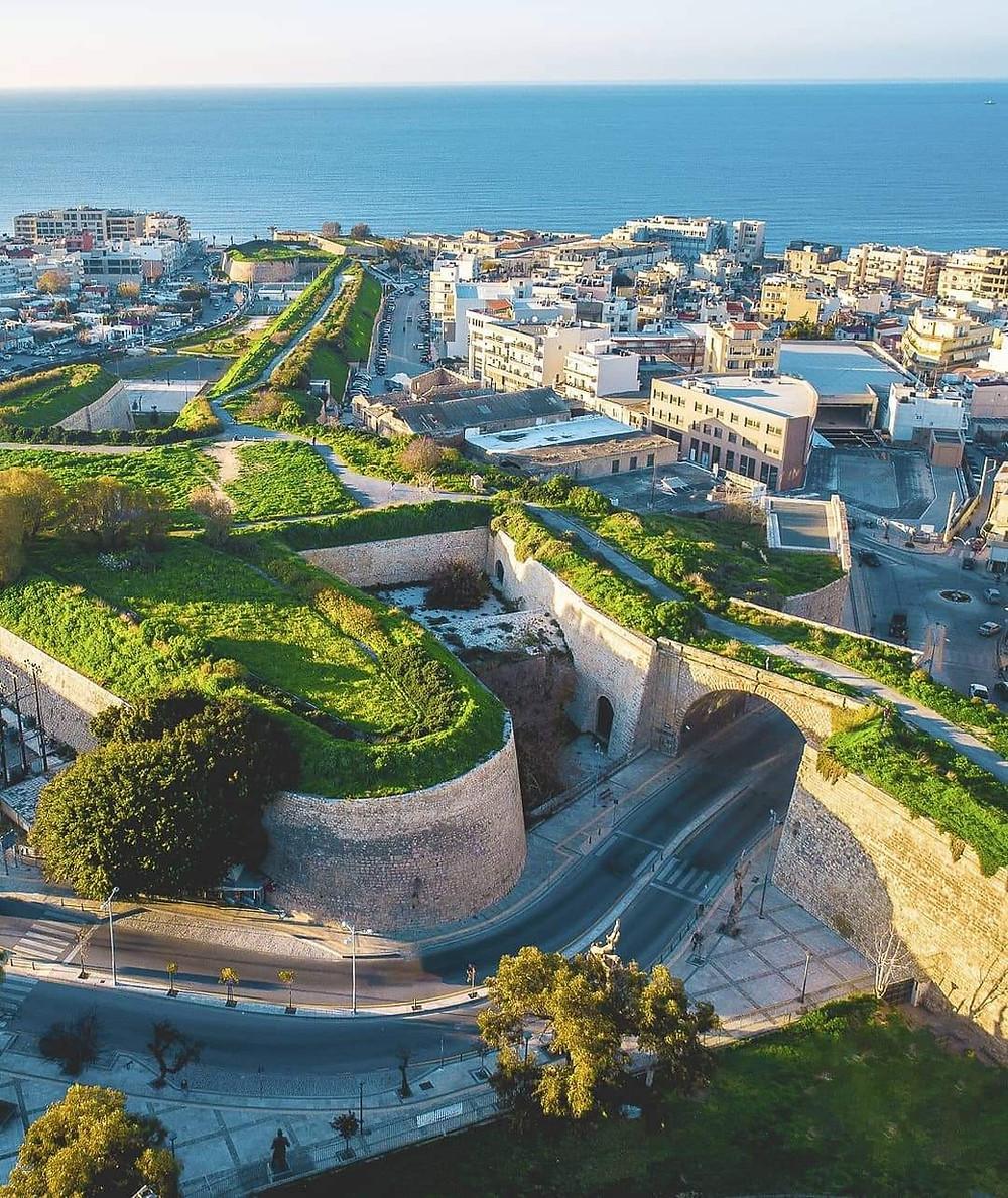 The Venetian walls of Heraklion, Crete, Greece.