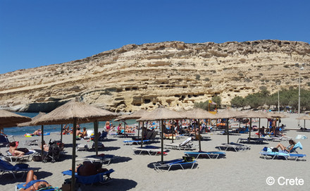 Matala Beach, Crete, Greece