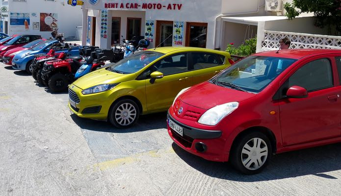You can rent a car, bike, scooter or minibus on Crete Greece both from local car hire companies and from the large international rental agencies.