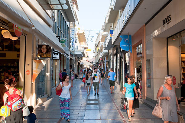 Dedalou Street, Heraklion, Crete, Greece. Shopping.