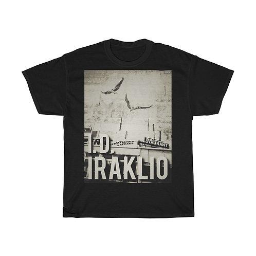 'I.D. Iraklio' Icarus & Daedalus Mural Heraklion Crete Unisex Heavy Cotton Tee