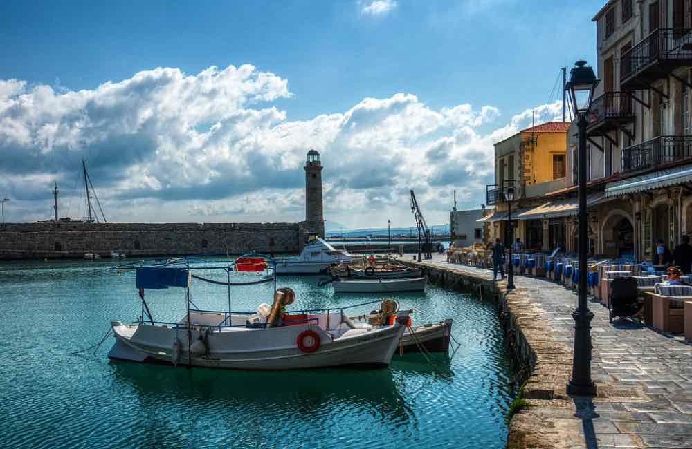 The Venetian old port of Rethymno Town in Crete Greece is such a pretty place to walk or sit and have a drink or meal, and the stunning town of Rethymno features in Richard Clark's new novel 'The Forgotten Song.'