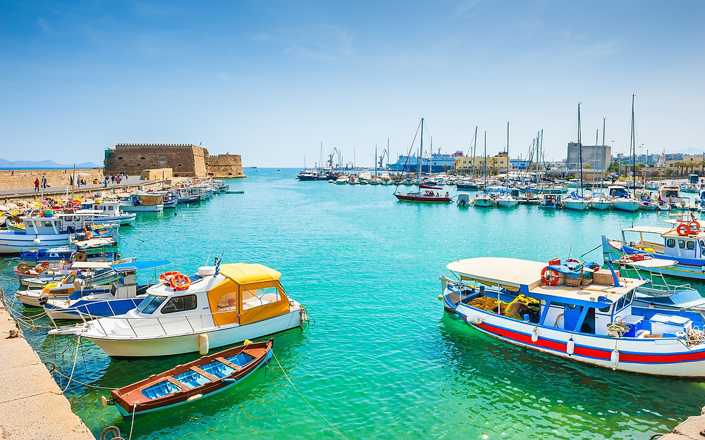 Heraklion Venetian Port, Crete, Greece with it's Koules.