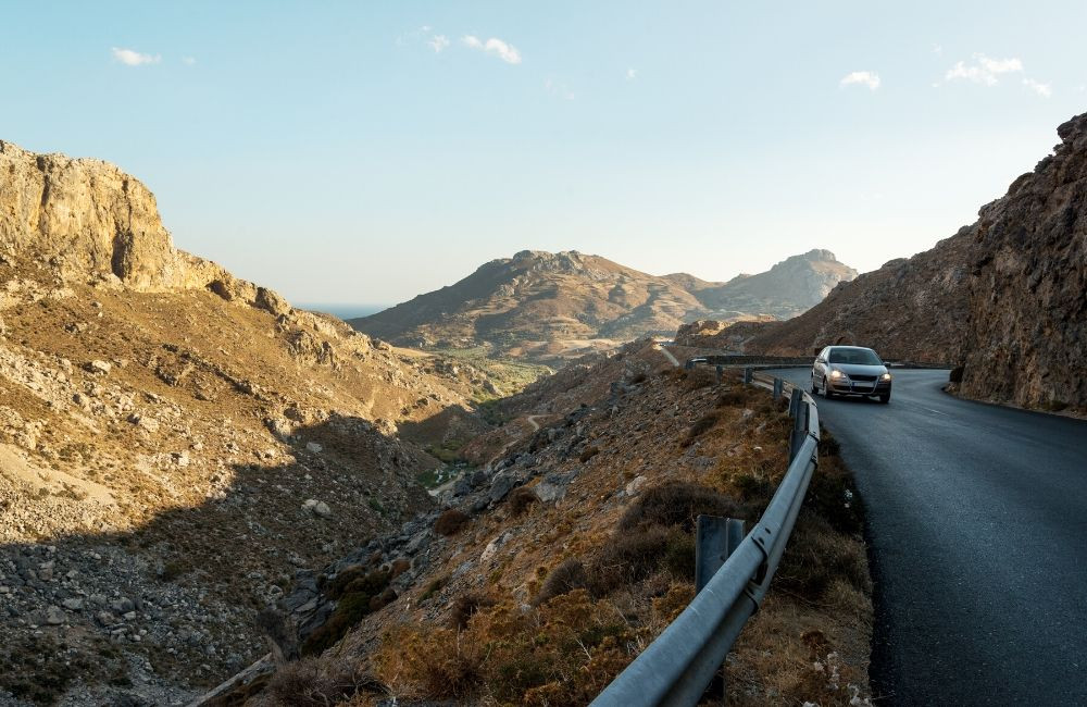 The mountain roads of Crete, Greece offer breathtaking scenery and fascinating villages and history to visit. The condition of these roads can vary and damage waiver on your car rental is recommended.