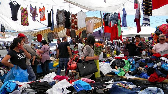 Heraklion Saturday Market, Crete, Greece.