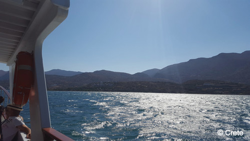 The boat from Spinalonga to Elounda