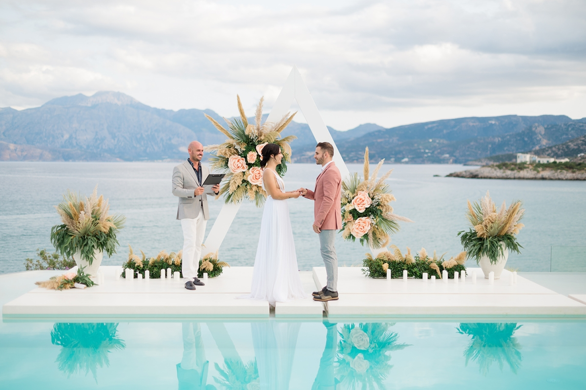 Stunning Resort Wedding in Crete, Greece