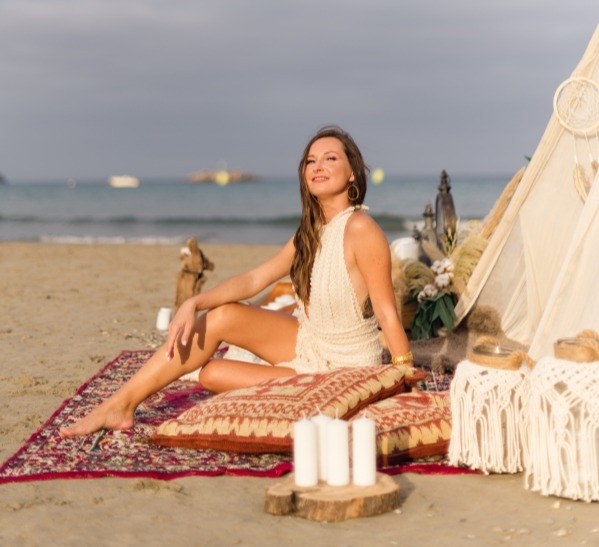 Boho Cretan beach wedding styling for your marriage.