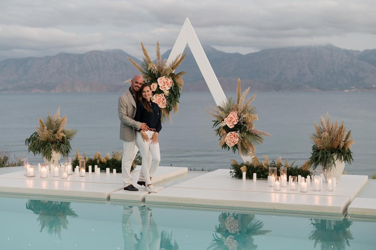 Alexandra & Allesandro create beautiful wedding events on the island of Crete, Greece.