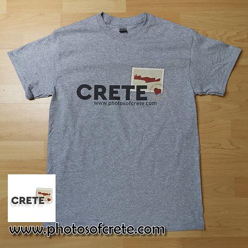 Crete Island Greece Grey Cotton T Shirt Top