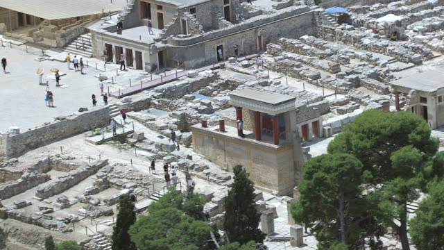 The Palace of Knossos is situated just south of Heraklion the capital city of the island of Crete, Greece and is the most famous of the ancient historical sites.