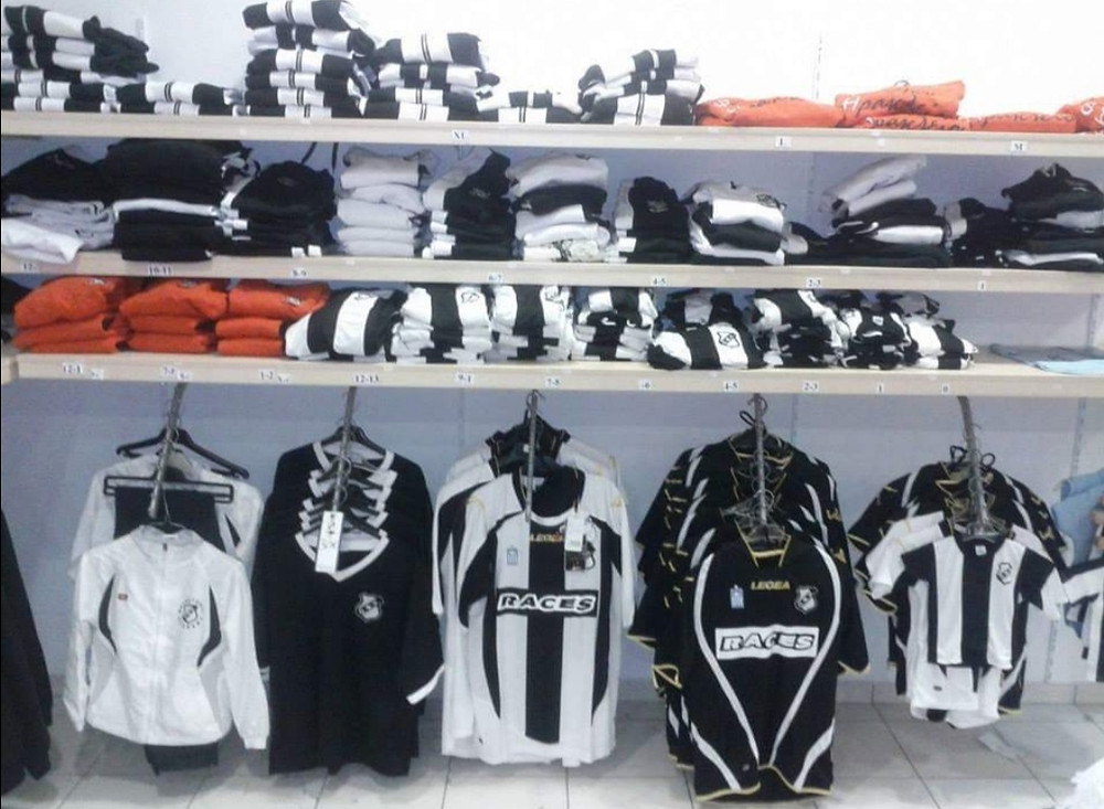 The boutique of the football team from Heraklion, Crete, Greece OFI Crete