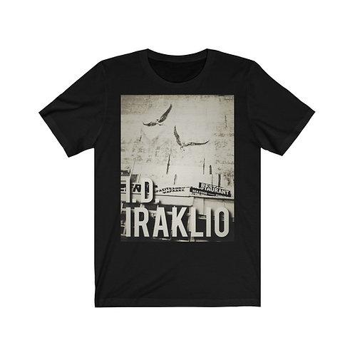 'I.D. Iraklio' Icarus & Daedalus Mural Heraklion Crete Unisex Slim T Shirt