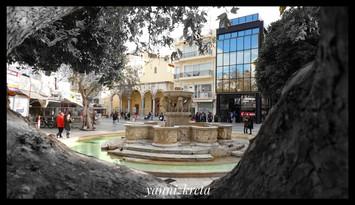 Liontaria, Morosini Fountain, Heraklion, Crete, Greece