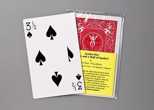 Jumbo 3 1/2 of Spades