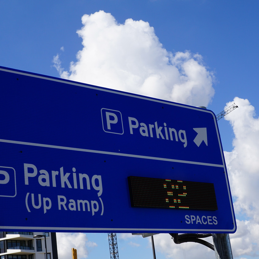 Parking available in the sky
