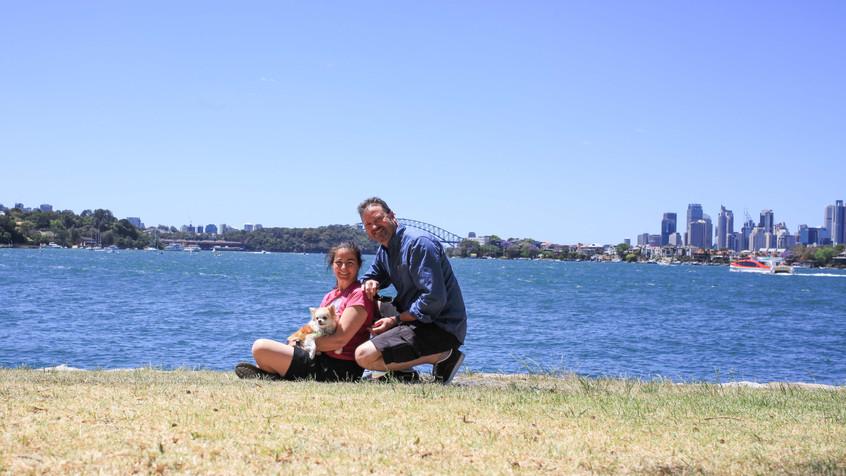 Enjoying the waterfront