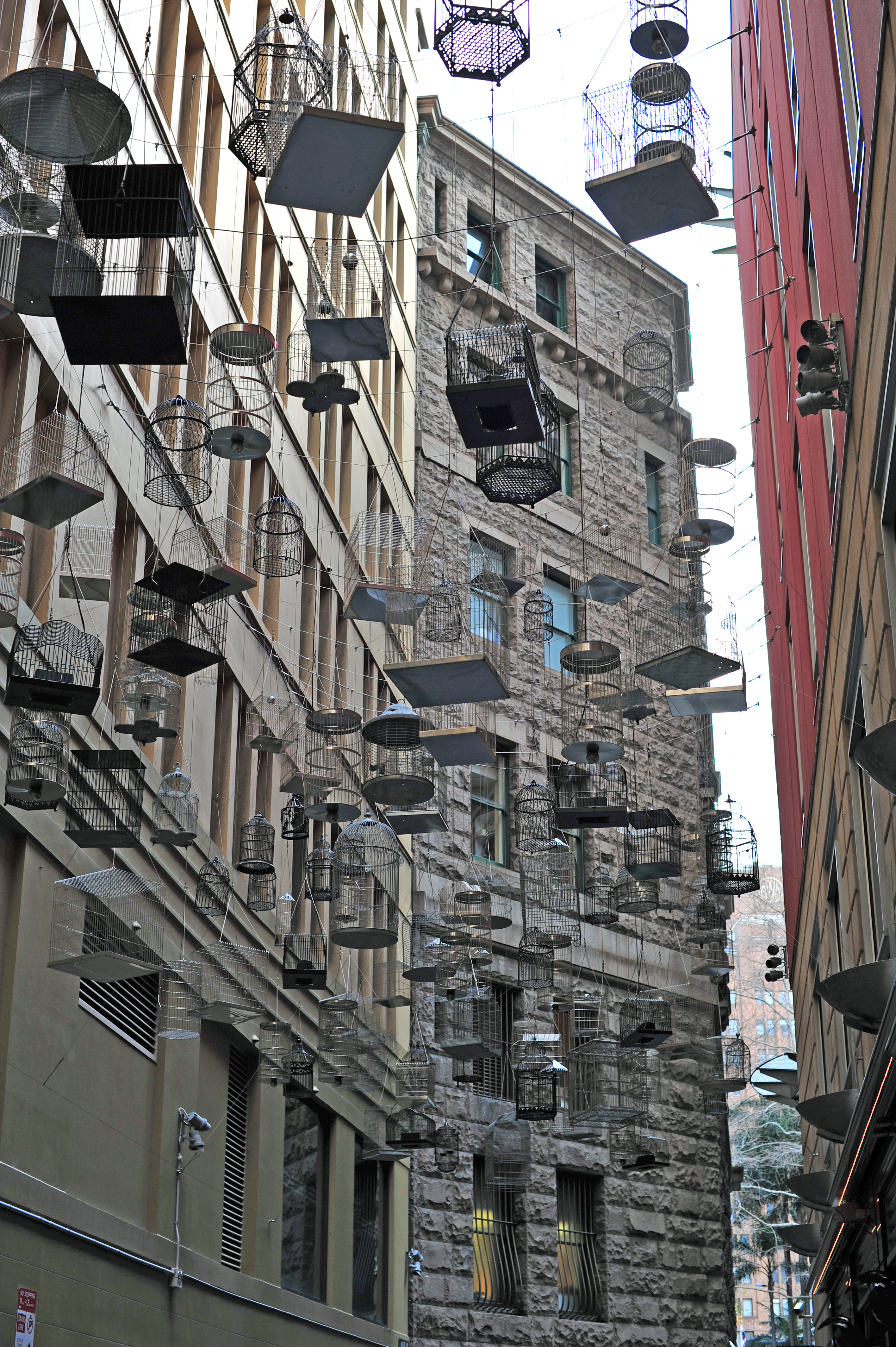Bird cages sculpture