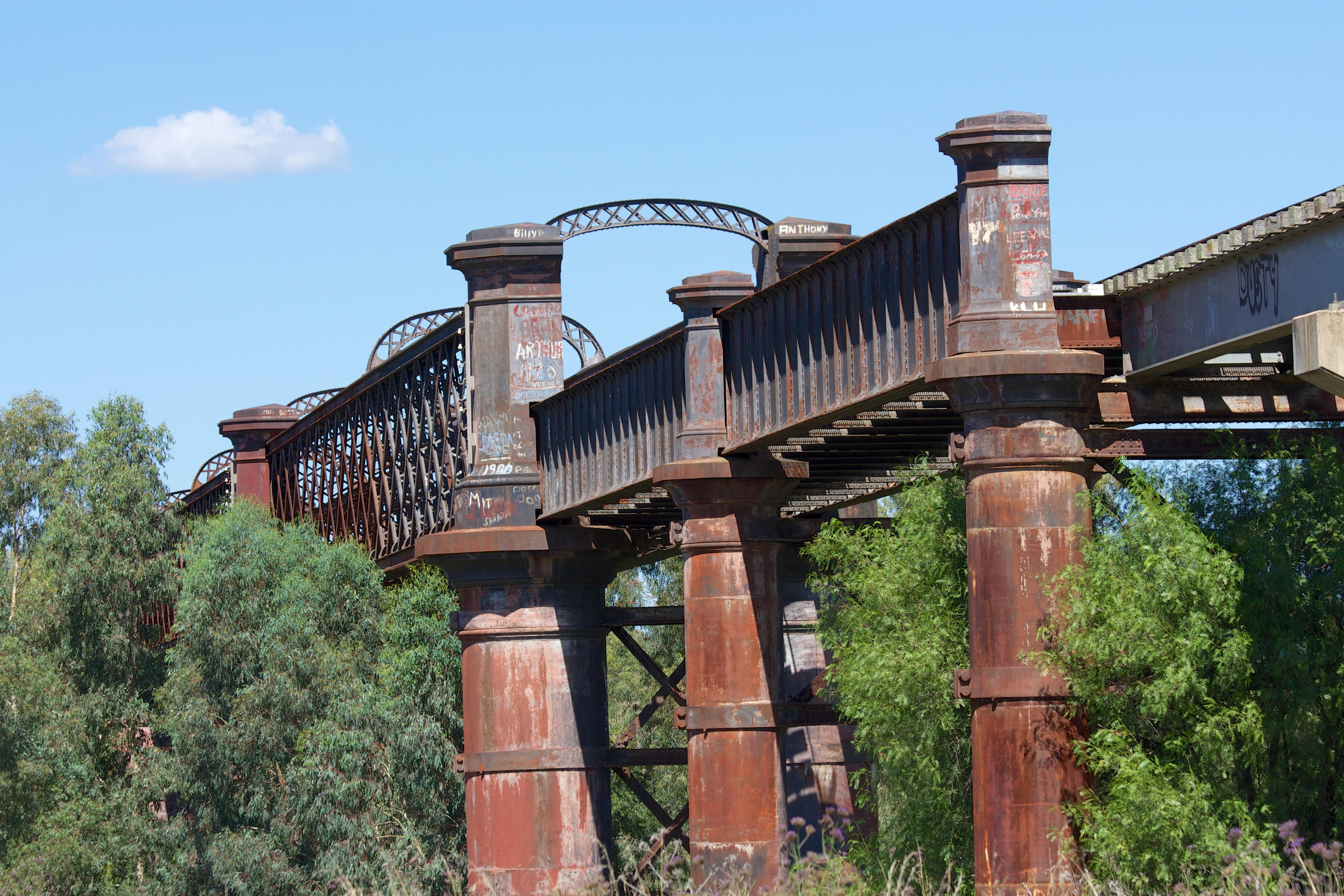 Disused rail bridge.