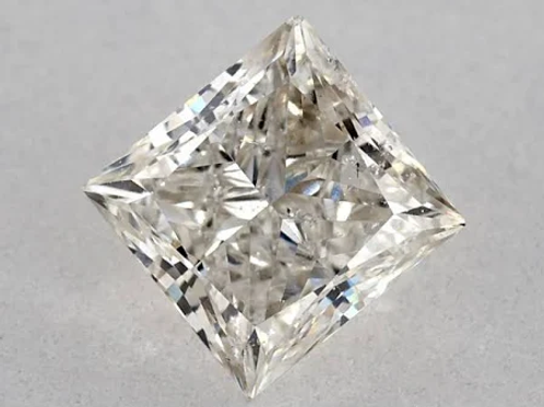 1ct Princess Diamond I-Color SI2-Clarity IGI Diamond