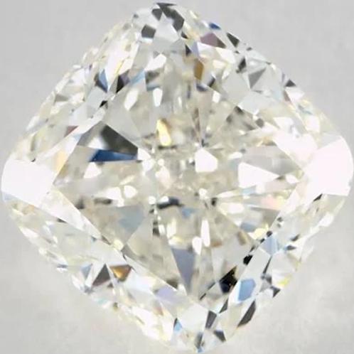 3ct Cushion Diamond K-Color VS1-Clarity GIA Diamond