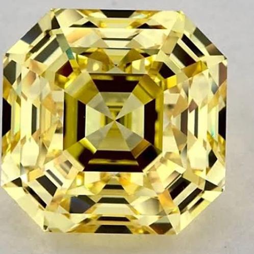 10.02ct Fancy Yellow-Color VVS2-Clarity GIA Emerald Cut Diamond