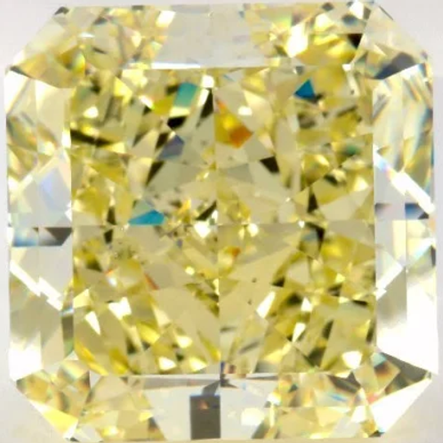 47.22ct Fancy Yellow-Color VS2-Clarity GIA Radiant Diamond VG-Symmetry EX-Polish