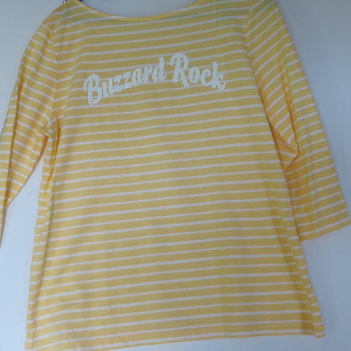 Ladies Croft & Barrow T-Shirt  3/4 Length Sleeve