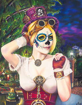 Gothic Steam Punk Fanart Day of the Dead Prints