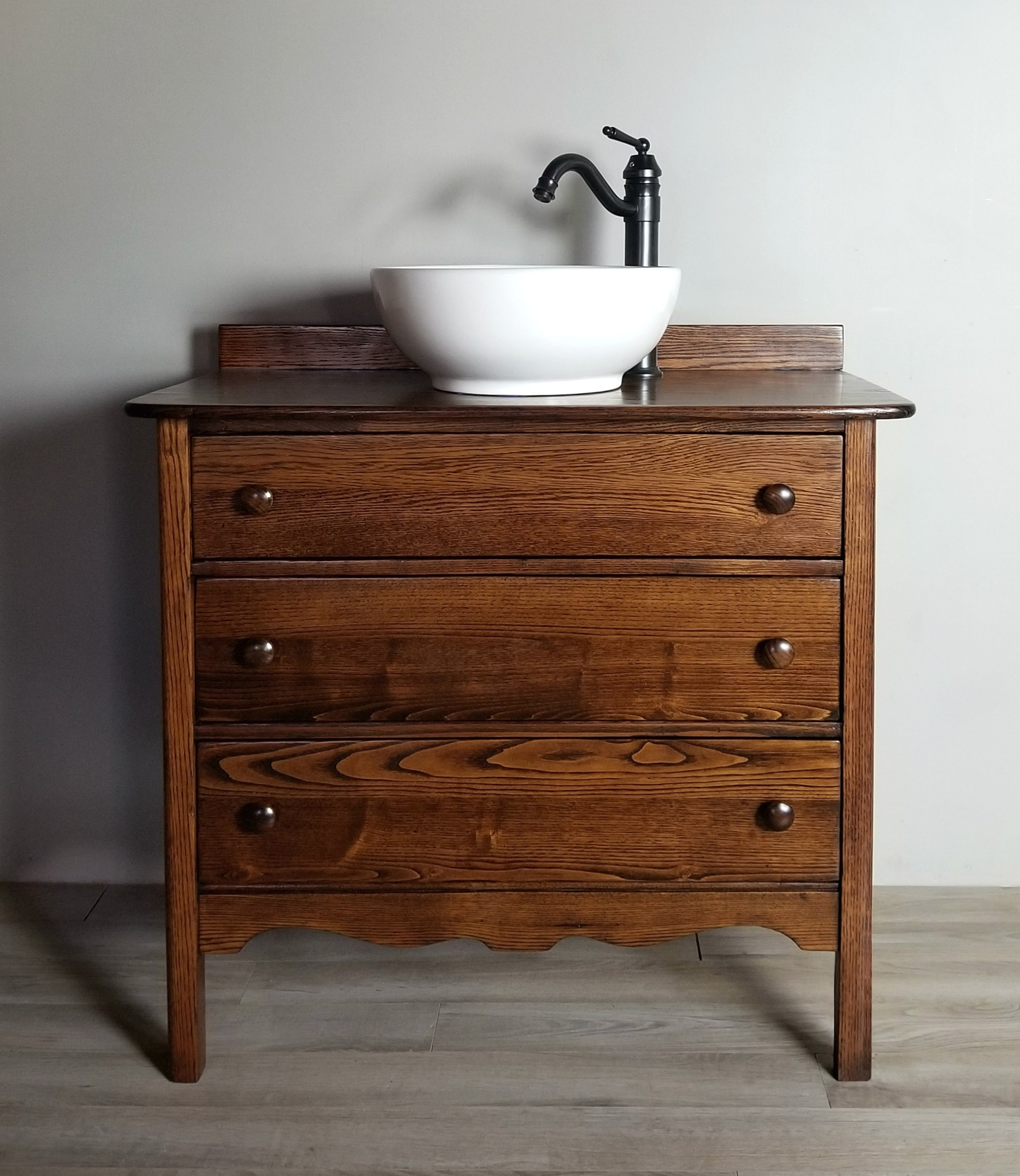 Antique Vessel Sink Vanity