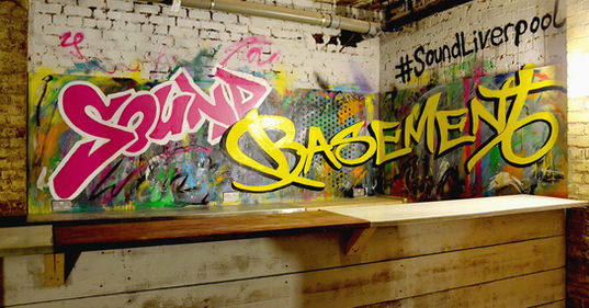 Sound Basement Graffiti mural liverpool bar