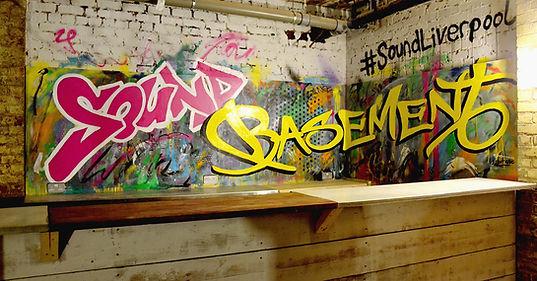 Sound Basement Graffiti mural liverpool bar