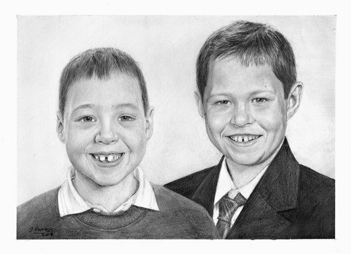 Brothers Family Portrait, A4 pencil, 2017