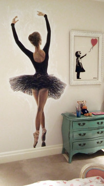 Ballerina mural, children's bedroom, 2016