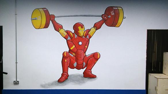 'Ironman' mural, LP Strength Academy