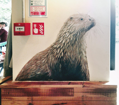 Otter at The Viking, Acrylic mural, 2016