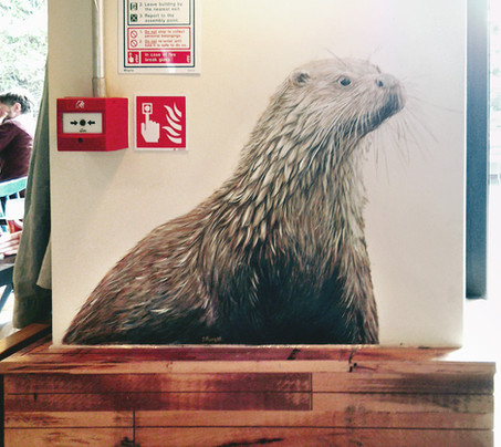 Otter at The Viking, Acrylic mural, 2016