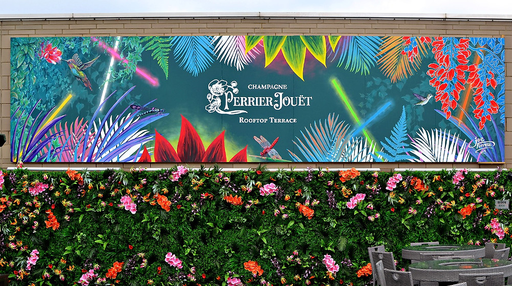 Perrier Jouet champagne mural at Marine Street Social in New Brighton