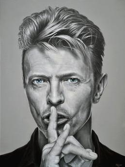 David Bowie, 30x40 inches, Acrylic on canvas, 2016