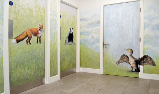 Nature Scene Mural, Auger House Hallway, 2016