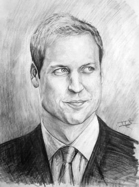 Prince William pencil study, A3, 2010